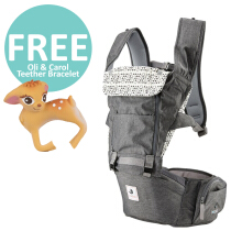 Pognae All New No.5 Waterproof Outdoor Hipseat Carrier Grey