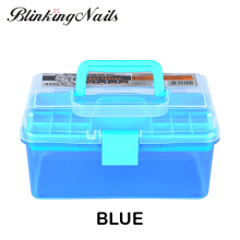 BlinkingNails Mini Storage Case Manicure Nail Tools Set of Plastic Tool Box for Nail Art Equipment 198mm x 110mm x 100mm