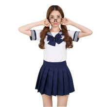 Anamode Women Erotic Costumes Japanese Student Cosplay Uniform Skirt Tops Sets-