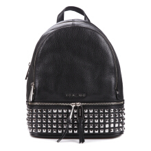 Michael Kors MK Rhea Medium Studded Pebbled Leather Backpack 30S5SEZB5L Black 491971