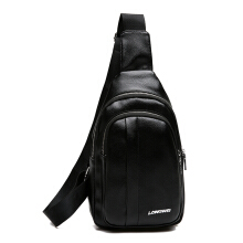 Wei's Men's Choice Fashion Shoulder Bag Leather Shoulder Bag Casual Trend Shoulder Bag Messenger Bag B-LW3158 Black
