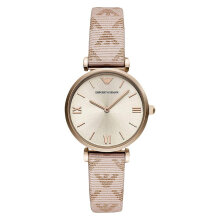 Emporio Armani Classic AR11126 Biege Sunray Dial Taupe Leather Strap [AR11126]