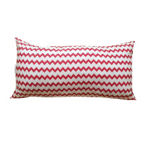SLEEP MAX Body Pillow - Chevron Red / 50x90cm