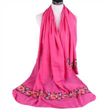SiYing Ethnic style embroidery cotton and linen scarf
