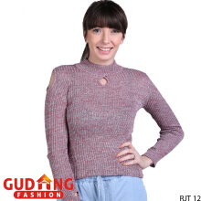 Gudang Fashion Sweater Wanita Smart Casual - Ungu Muda / RJT 12+A