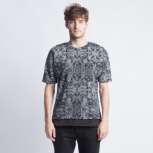 ANTHM-Circuits Print Oversized T-Shirt-Black