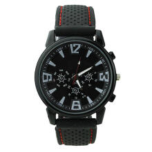 Farfi Military Pilot Aviator Army Style Silicone Men Outdoor Sport Wrist Watch