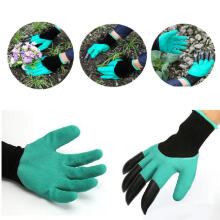 Farfi Gardener Gloves with Claws for Easy Digging Planting Pruning Weeding Seeding as the pictures