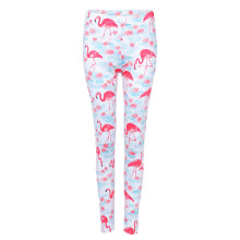 Fashionmall Trendy Mid Waist Bird Print Elastic Skinny Leggings Women Long Pants
