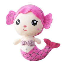 COZIME Plush Toys Gift For Baby Kids Girls Children Cute Lovely Mermaid Stuffed Doll Pink