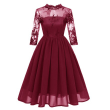 Xi Diao Women Fashion Applique Party Prom Dresses