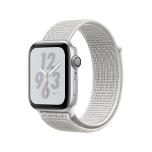 Apple Watch Nike+ Series 4 GPS 44mm MU7H2 Silver Aluminium Case with Summit White Nike Sport Loop