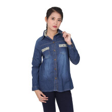 ADORE Kemeja Denim Blue All Size