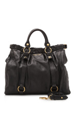 Pre-Owned Miu Miu Vitello Lux Gathered Tote