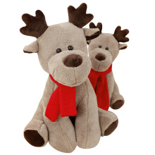 Jantens 28cm simulation Christmas elk plush toy filled soft deer gift doll children Christmas home decorations Photo Color
