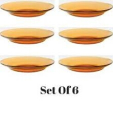 DURALEX Piring Amber Plate 23 Cm (isi 6 pc) TEMPERED GLASS