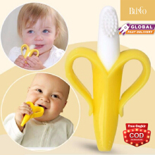 BLINGO Baby toys silicone 0-12 months baby banana teether toys newborn baby teeth care tooth gel chew toys Yellow