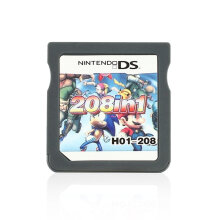 COZIME NDS 208 in 1 Video Game Cartridge Console Card Mini Memory for Nintendo Grey