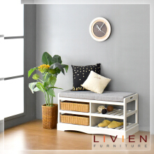 Bangku Sofa Rak Sepatu - Dynamic Bench Rack - LIVIEN FURNITURE