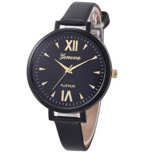 Farfi Geneva Roman Numerals Slim Analog Quartz Wrist Watch