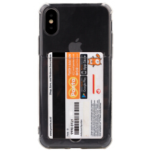 Paroparoshop - Soft Case Anti Crack with Card Holder Case for iPhone All Types