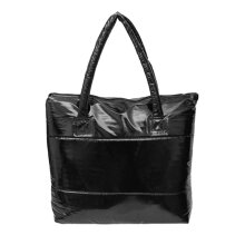 [LESHP]Women's Bag Space Sponge Shoulder Handbags Portable Lady Cotton-padded Black