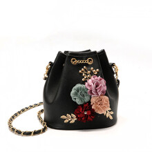 Jantens original design package Flowers shoudler bag shoulder bag inclination shoulder bag three dimensional flower