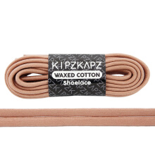 KIPZKAPZ WS42 Waxed Cotton Flat Shoelace - Dusted Clay [6mm]