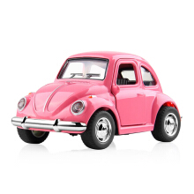 Jantens 1:38 Alloy Car Toy Pull Back Diecast Metal Pink Car Model Pink