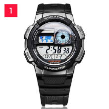 Casio AE-1000W-1B Sports double display waterproof electronic watch-Black