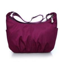 [LESHP]Waterproof Nylon Single Shoulder Bag Fashion Leisure Large Capacity Women Purple