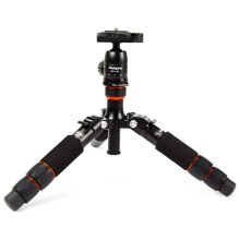 Fotopro M4-Mini Aluminum Tripod with Head Portable & Compact Black