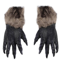 [TOWER PRO] Halloween Werewolf Gloves Latex Furry Animal Hand Gloves Halloween Prop Multicolor