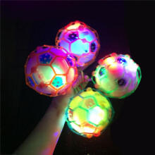 Farfi Creative LED Light Music Jumping Football Bouncing Dancing Ball Children Toy Random Color