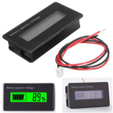 GY-6H 12V 24V 36V 48V Lead Acid Battery 2-15S Lithium Battery Capacity Indicator Digital Voltmeter