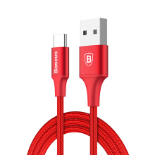 Times speed series USB-A output Type-C fast charge data cable charging line (indicator) 2A 1M red