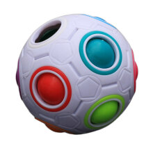 [COZIME] Unique Kid Spherical Rainbow Ball Football Magic Toy Colorful Block Toy Multicolor