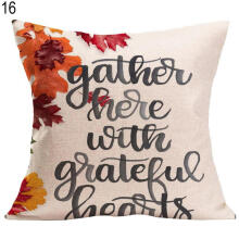 Farfi Thanksgiving Decorative Cushion Cover Home Sofa Car Bed Linen Square Pillowcase