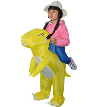 [OUTAD] Halloween Dinosaur Inflatable Clothing Halloween Inflatable Doll Clothes Yellow