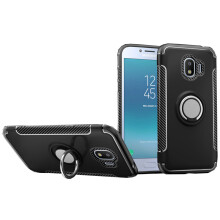 RockWolf Samsung Galaxy J2 pro case TPU metal ring magnetic mobile phone holder