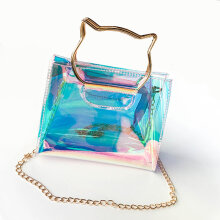[LESHP]Cat Ear Design Women Transparent Single Shoulder Bag Jelly Messenger Bags Transparent