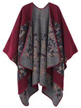 Zanzea 0051Casual Women Camouflage Printed Shawl Wrap Red One Size
