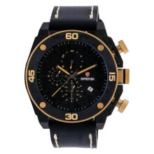 Expedition EXF-6710-MCLGPBA Man Black Dial Black Leather Strap [EXF-6710-MCLGPBA]