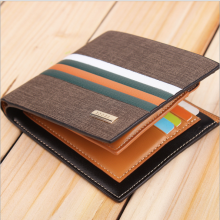 Bogesi Dompet Pria Pattern Green Line Premium Import Brown