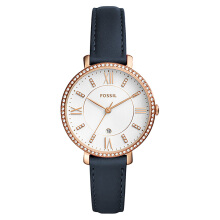 Fossil Jacqueline Ladies White Dial Blue Leather Strap [ES4291]