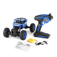 COZIME ZEGAN 1801 2.4GHz 1/18 Scale 4WD Double Motors Off-Road RC Rock Crawler Blue