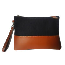 ARLETTO Clutch Handbag Canvas Kulit