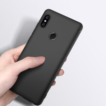 [free ongkir]Tokomuda Slim matte Soft Case For Xiaomi Redmi Note 5 pro (5.99'') 2018 Hitam
