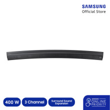 SAMSUNG Curved Sound Bar - HW-MS6500/XD - Black [SAMSUNG ONLINE PRIORITY]