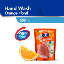 SOS Hand Soap Pouch Orange 300 ml